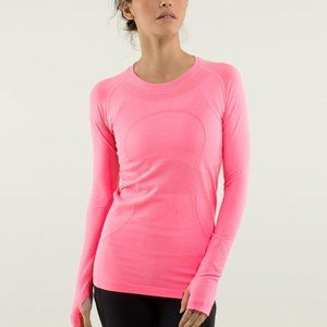 Lululemon pink long sleeve top